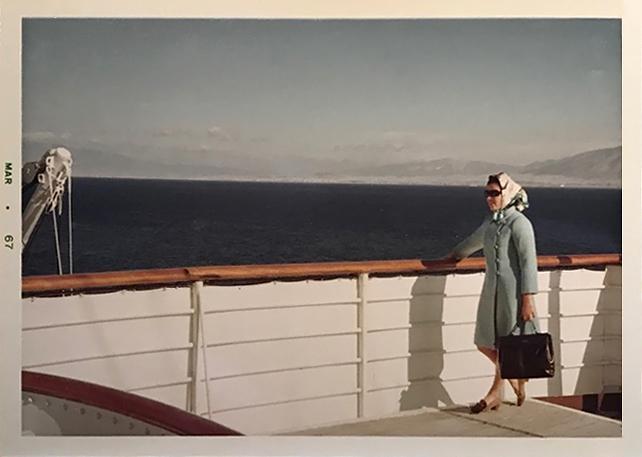 Marina Ducrey sur le Christoforo Colombo. 1967