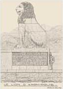 EFA plan n° 652 : Élévation Ouest, essai de restitution du monument, par H. Ducoux [c. 1934-1935].