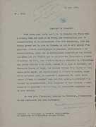 EFA 7 ADM 4 : Demande d'autorisation de fouilles du site, adressée par le directeur de l'EFA au service archéologique grec, 21 mars 1936.