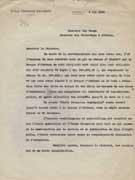 MACED 1-1935-1936 : Lettre adressée par R. Demangel, directeur de l'EFA, à L. MacVeagh, ministre des États-Unis en Grèce, 4 mai 1936.
