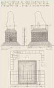 EFA plan n° 654 : Plan et élévations Sud et Ouest, essai de restitution du monument, par H. Ducoux [c. 1936].
