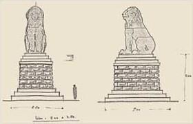 EFA plan n° 647 : Croquis d'un essai de restitution du monument, par H. Ducoux [c. 1936].
