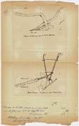 EFA FCP 32, dos. 8 : Croquis de deux charrues macédoniennes, l'une pour terrains pierreux, l'autre pour terrains faciles, transmis par le chef de poste de [Zélova], mai 1918.