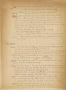 EFA FCP 32, dos. 7 : Extrait des notes de Ch. Picard listant les principaux villages sur la route entre Monastir et Banitsa, s. d.
