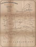 EFA FCP 32, dos. 8 : Plan ancien de Thessalonique, au 1:2500,  annoté de la main de Ch. Picard, s. d.