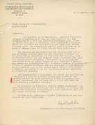 EFA 1 ADM n. c. : Lettre d'Alfred Westholm, conservateur des collections chypriotes auprès de la mission suédoise à Chypre, à R. Demangel, 13 février 1940.