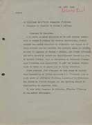 EFA 1 ADM n. c. : Lettre de R. Demangel à Gaston Maugras, ministre de France à Athènes, 23 août 1940.
