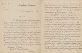 EFA CHYPRE 2 : Lettre d'E. de Castillon Saint-Victor à G. Radet (p. 1-2), 28 juillet 1886.