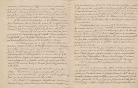 EFA CHYPRE 2 : Lettre d'E. de Castillon Saint-Victor à G. Radet (p. 3-4), 28 juillet 1886.
