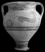 EFA cliché n° 23829 : Vase mycénien, provenant d'Aradippou, près de Larnaca (photo mission P. Perdrizet, 1896. Actuellement au musée du Louvre, inv. AM 625).