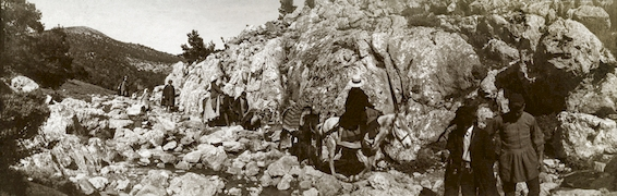 Excursion à pied et à cheval, fin XIXe s. – début XXe s.   Εκδρομή πεζή και με άλογο, τέλη 19ου - αρχές 20ου αι. / J. Chamonard, EFA FJC P 12