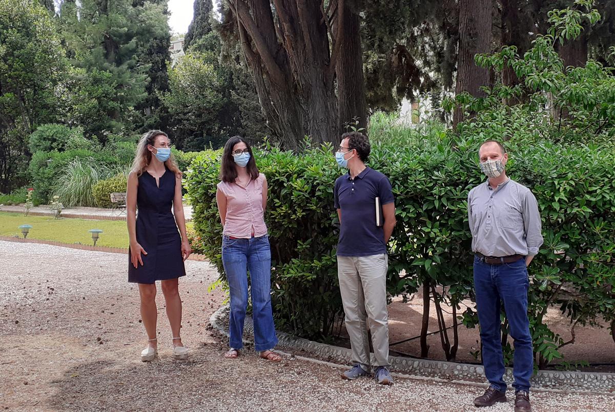 La section moderne et contemporaine. De gauche à droite: L Yordanova, P. Anagnostou, K. Gkotsinas (membres scientifiques) et G. de Rapper (directeur des études)