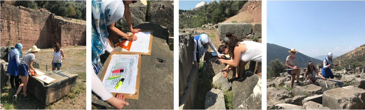 Inventaire des blocs sur la terrasse de Marmaria© EFA, Mission Delphes-Marmaria