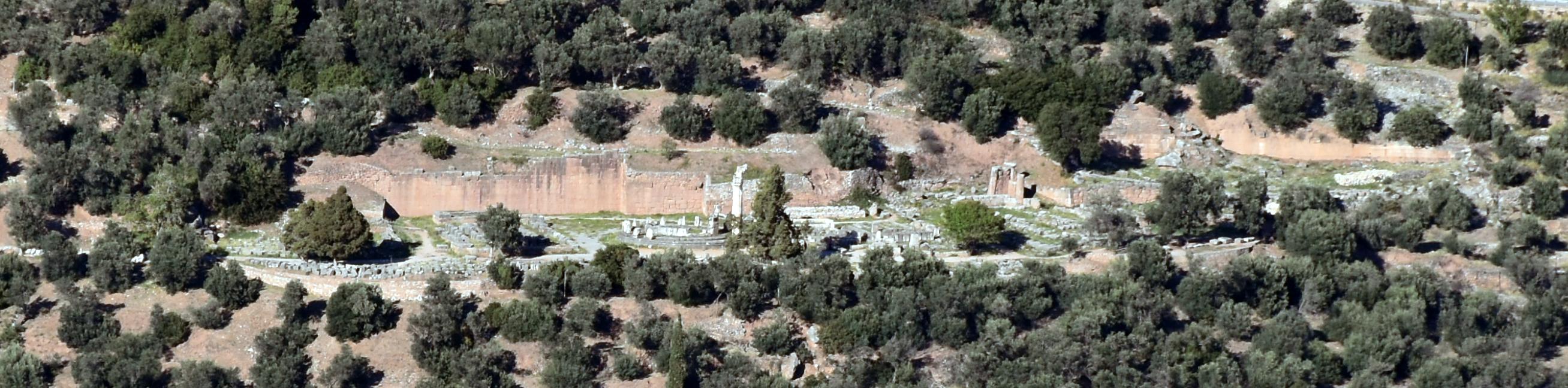 La terrasse de Marmaria vue depuis le Sud © EFA/Mission Delphes-Marmaria