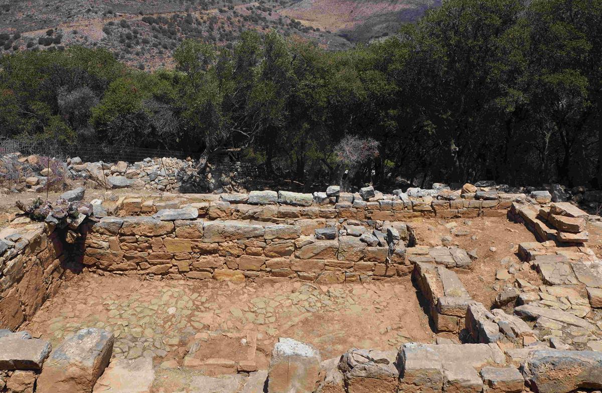 Dréros (Crète) : vue du secteur 5, depuis le Sud ©EFA, Al.Farnoux