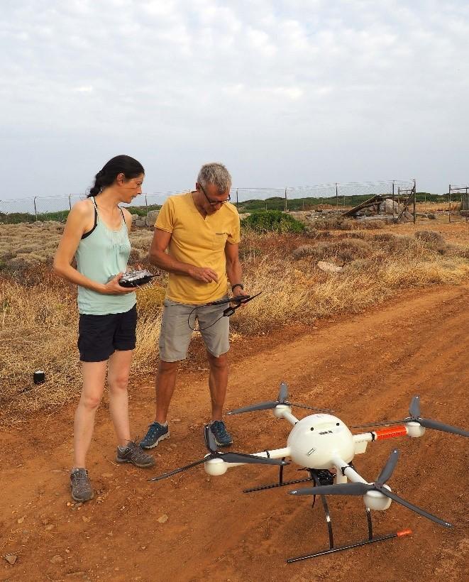 Malia, LIDAR embarqué sur un drone ©cliché S. Müller-Celka