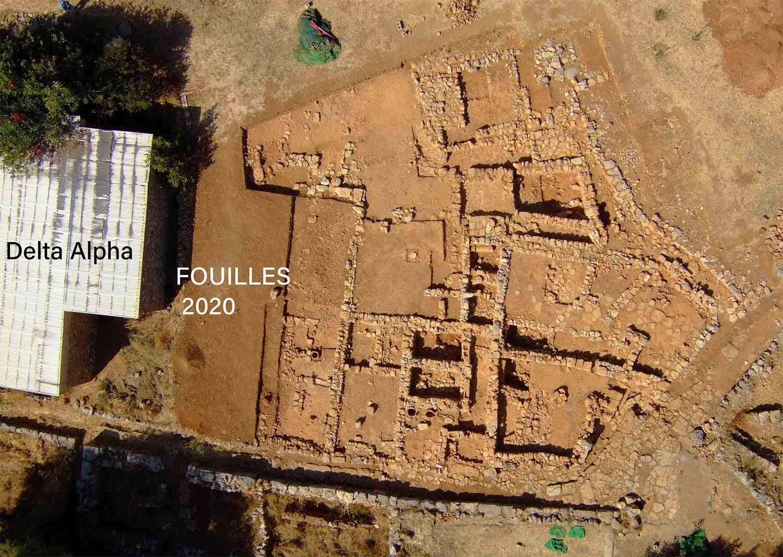 Vue aérienne du secteur Pi ©EFA, Chr. Gaston