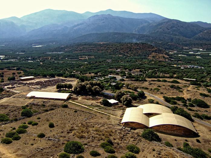 Photographie générale du site de Malia par cerf-volant (©Christophe Gaston)