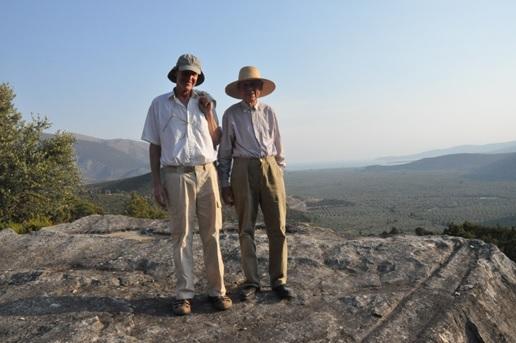 16 septembre 2010, dans les carrières de Saint-Elie, avec Gregers Algreen-Ussing (photo A.Perrier.)