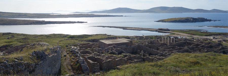 Délos, le quartier du théâtre ©EFA, Cl. Sarrazanas
