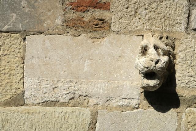 Gargouille léonine du monastère Sainte-Marie