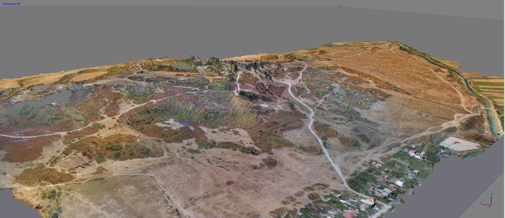 Capture du modèle 3D général du site (Jean-Baptiste Houal, AOrOc)