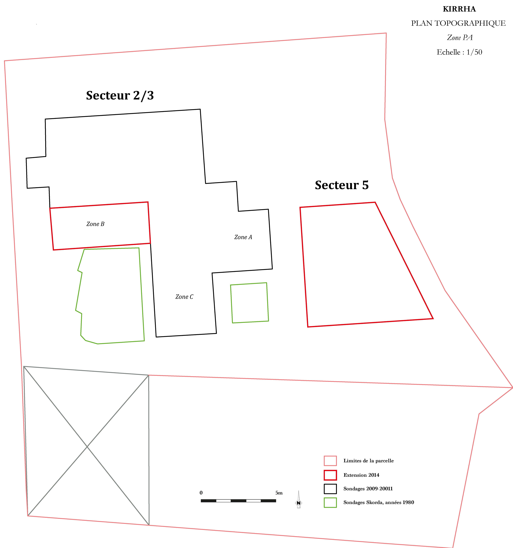 Plan topographique, Zone PA
