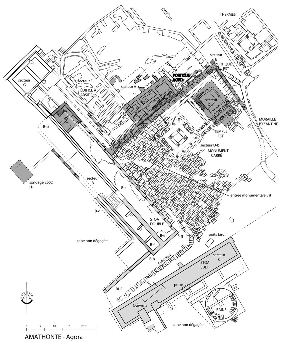 Ground plan of the agora (A. Kattos, T. Koželj, M. Wurch-Koželj / Archives EFA, 31188)