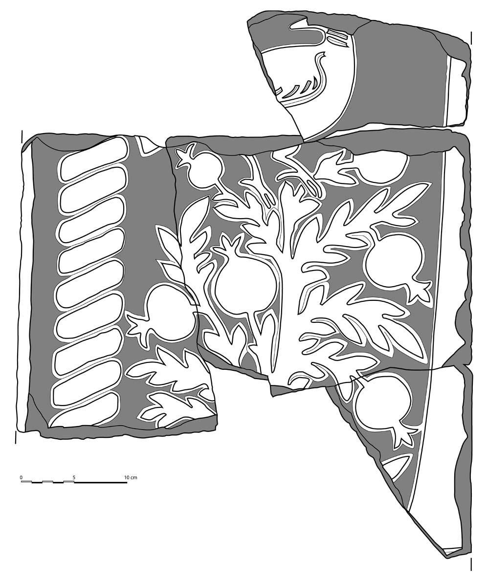 Pavement en opus sectile (Ph. Collet / Archives EFA, Y.1440)