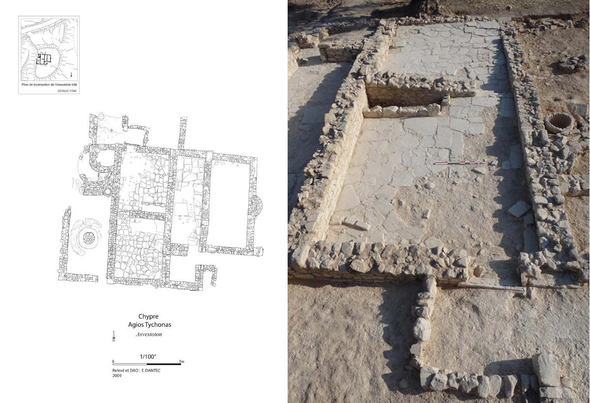 Agios Tychonas-Asvestoton, bâtiment d'époque paléochrétienne (E. Dantec)