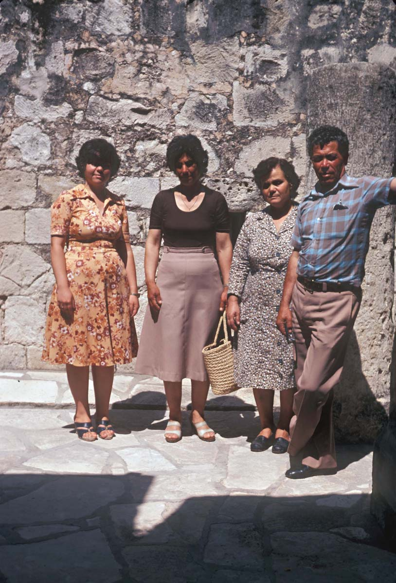 Kypros Tsangarides and his family, 1979 (F. & A. Hermary / Archives EFA, Y.2574)