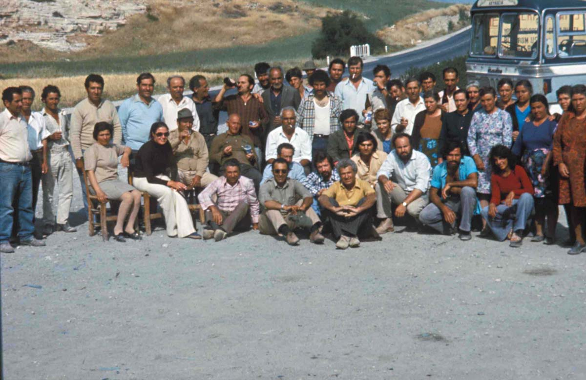 Team for the first excavation season, 1975 (P. Aupert / Archives EFA, Y.37P)