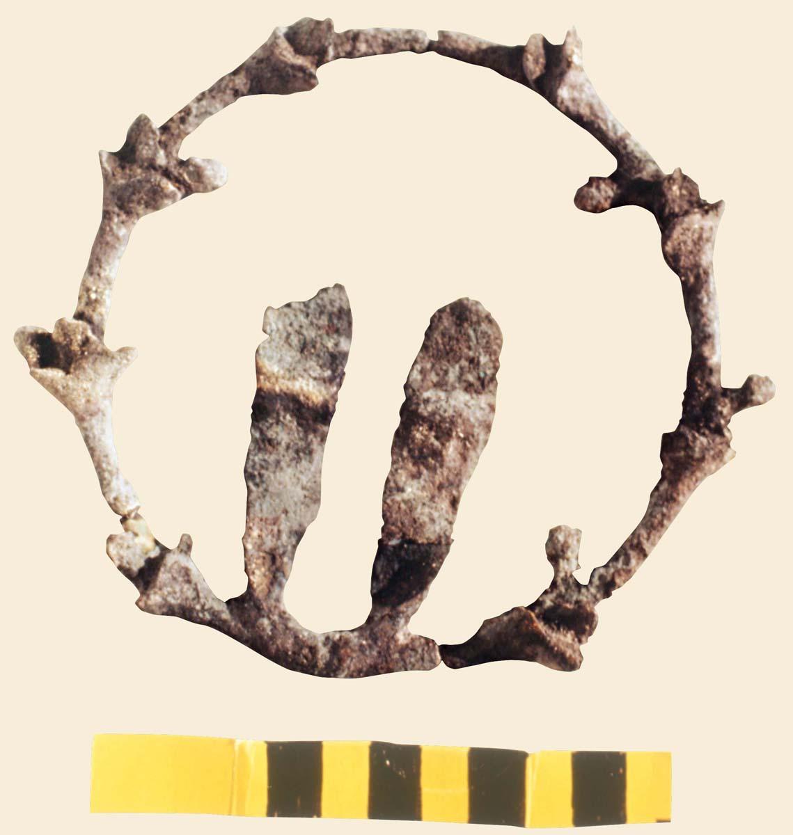 Couronne métallique, époque hellénistique (J.-Y. Empereur / Archives EFA, Y.870)