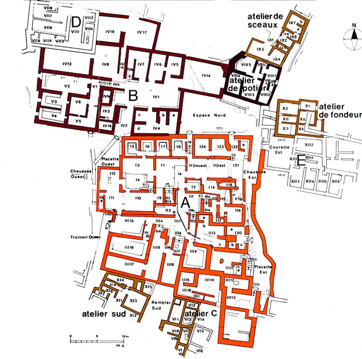 Figure 1. Plan général du Quartier Mu (M. Schmid ©EfA).