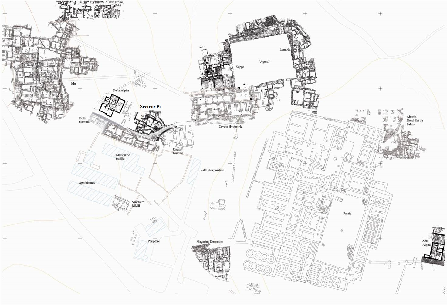 Fig.1 Plan topographique de Malia