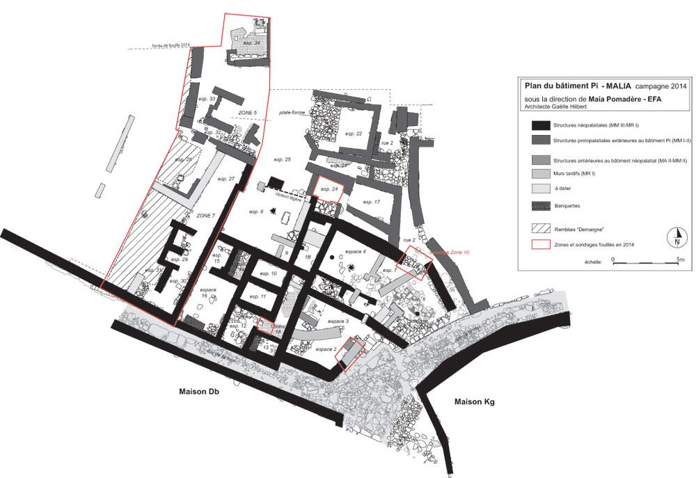 Fig. 2a Plan du secteur Pi en 2014