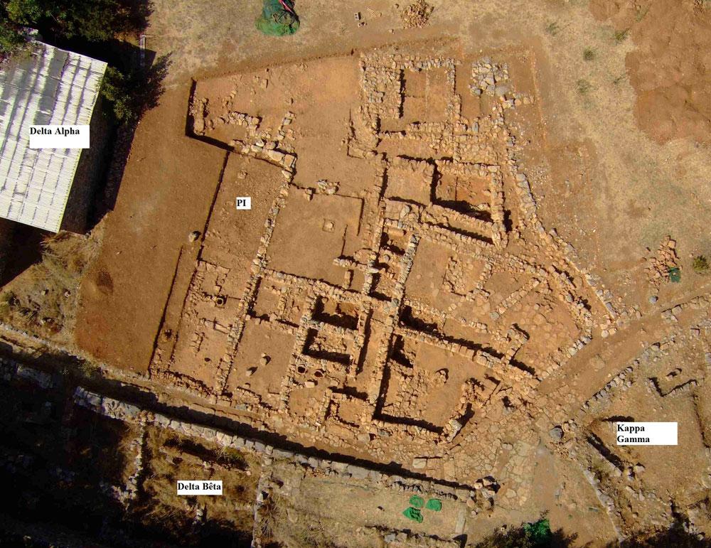 Fig. 2b Photographie aérienne du secteur Pi en 2010